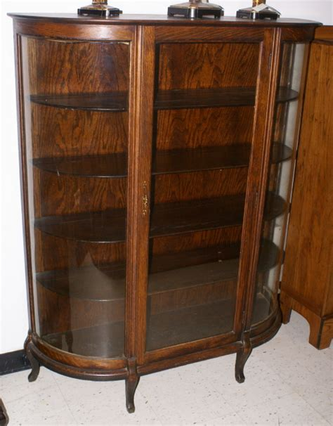 solid oak china cabinet solid oak antique bow glass china cabinet