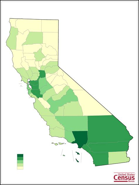 california map by population california county population map free