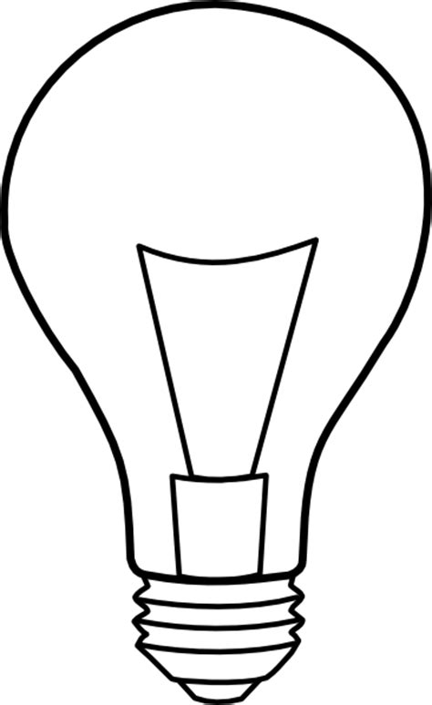 Light Bulb Outline Png by Light Bulb Outline Clip At Clker Vector Clip Royalty Free Domain