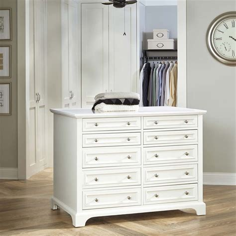 island with drawers for closet home styles naples 10 drawer 6 shelf closet island in
