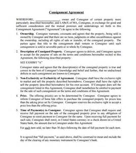consignor agreement template consignment agreement 10 documents in pdf word