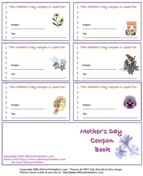 printable mother s day coupon book template wonderful coupon template for pages contemporary resume