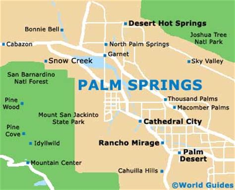palm springs map palm springs maps and orientation palm springs california ca usa