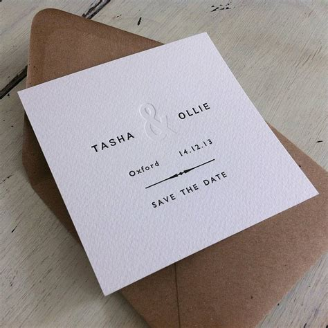 Card Press Original letterpress save the date by press