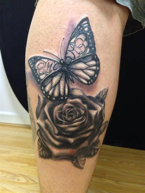 butterfly and roses tattoos butterfly and by oxymon on deviantart