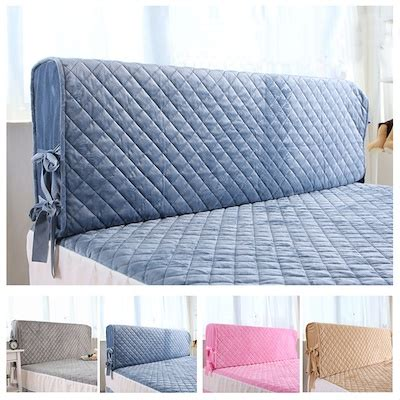Plush Headboard Beds Qoo10 All Size Bed Headboard Cover Bed Cover Dust Cover Simple Plush Removab Household