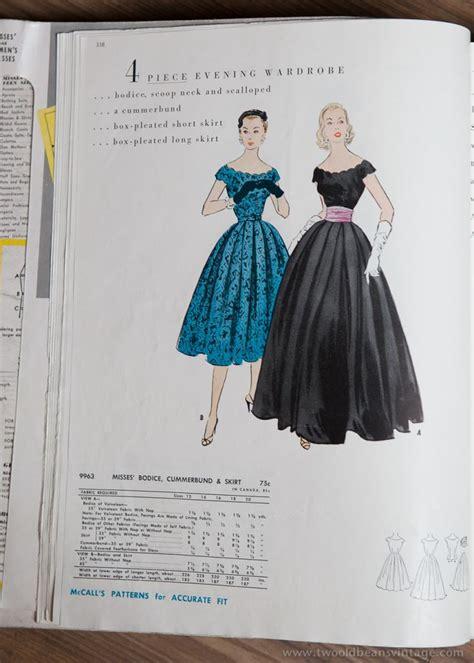 pinterest pattern dress 9963 mccalls 1954 winter vintage evening dress pattern