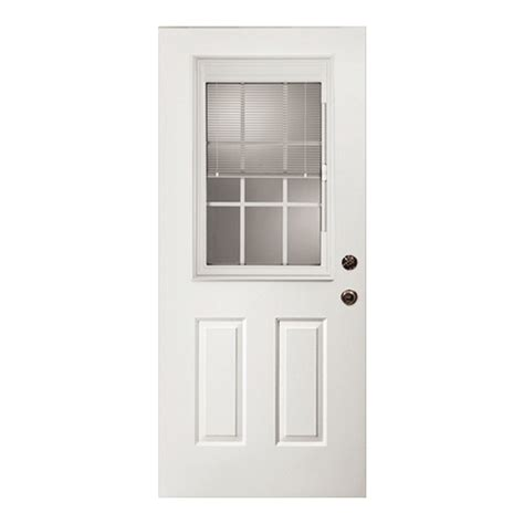 Shop Reliabilt 32 Quot W Half View Fiberglass Entry Door Unit Lowes Exterior Doors Fiberglass