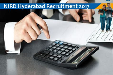 Mba Accounting In Hyderabad by Nird Hyderabad Project Assistant 2017 Mba Pass 2017