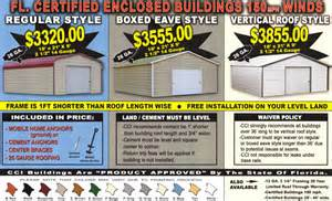 alansfactoryoutlet metal garage prices florida prefab