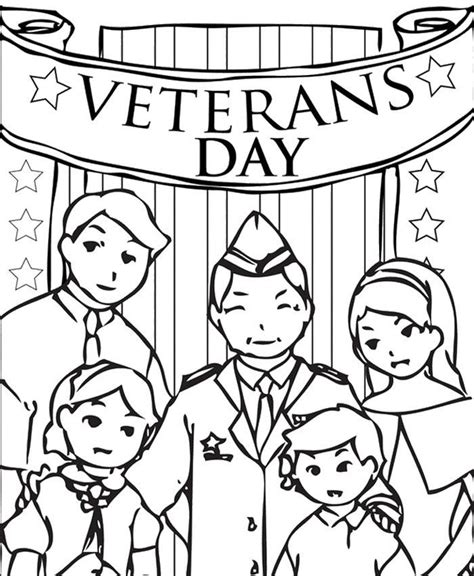 Printable Coloring Pages Veterans Day | veterans day remembrance coloring home