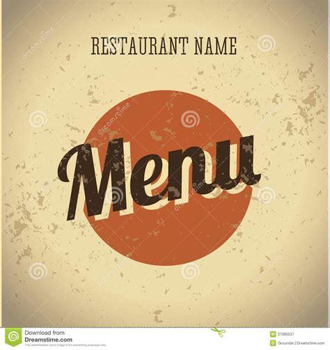 vintage menu card template restaurant menu card vintage template royalty free stock