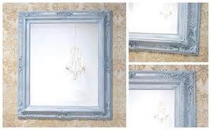 silver framed mirror bathroom framed bathroom mirrors for sale silver teal by revivedvintage