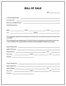 bill of sales template for car free printable free car bill of sale template form generic