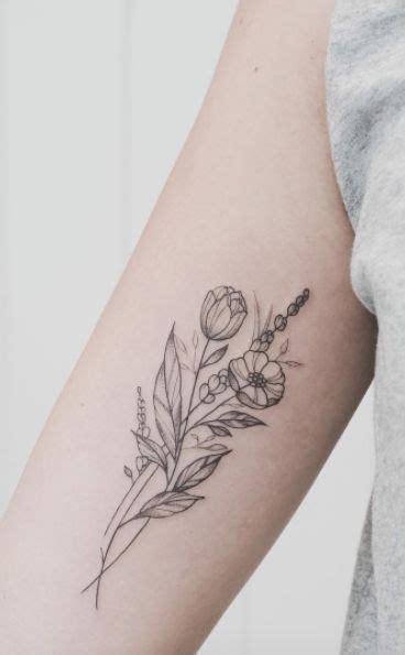 minimalist wildflower tattoo resultado de imagen de minimalist wildflower bouquet