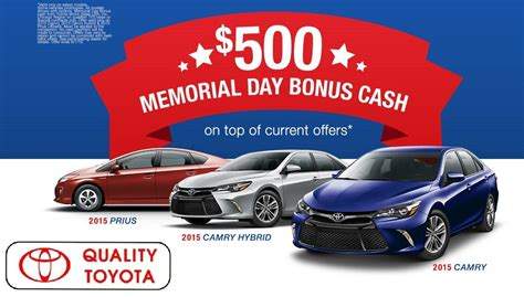 Toyota Memorial Day Sale Toyota Memorial Day Sale