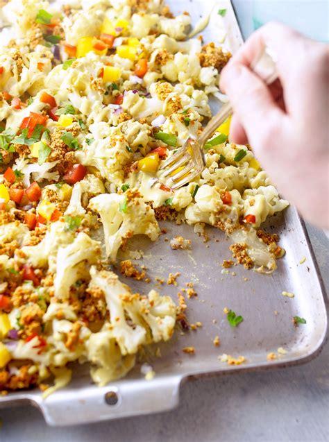 nacho recipe cauliflower vegan cauliflower nachos with walnut taco quot meat quot detoxinista