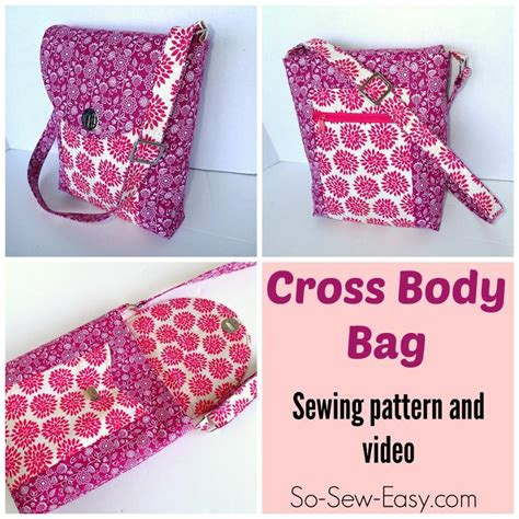 free sewing patterns so sew easy cross body bag by so sew easy craftsy