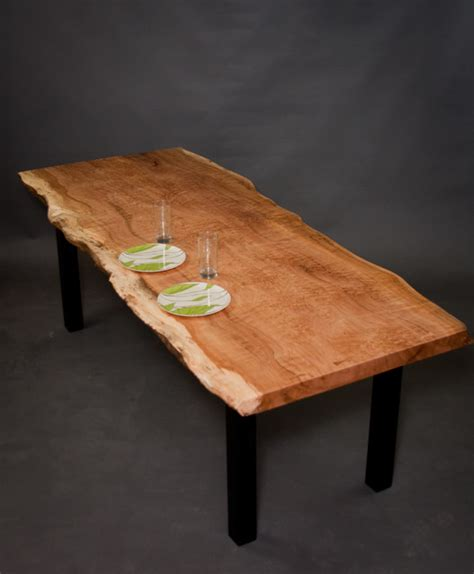 figured reclaimed maple dining table modern dining