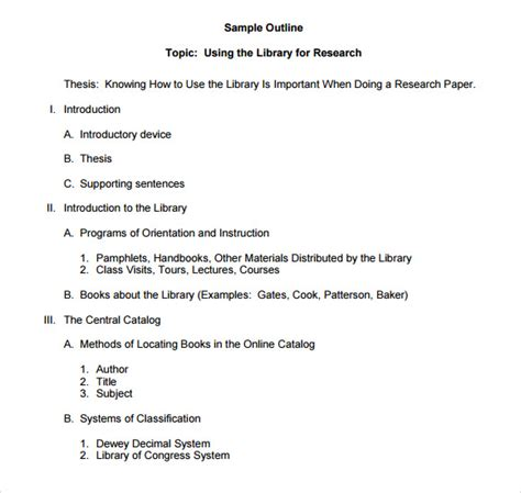 free essay template paper outline template 7 free documents in pdf