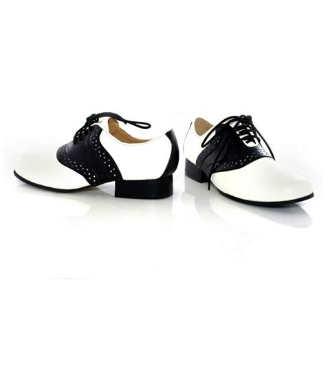 saddle shoes black and white costume shoes