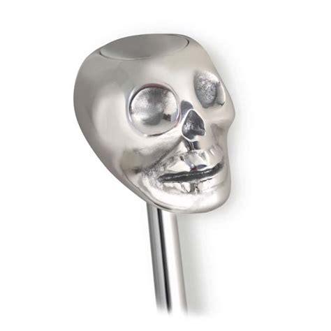 Skull Shifter Knob by Lokar Sk 6861 Skull Shifter Knob W Plain Button Polished