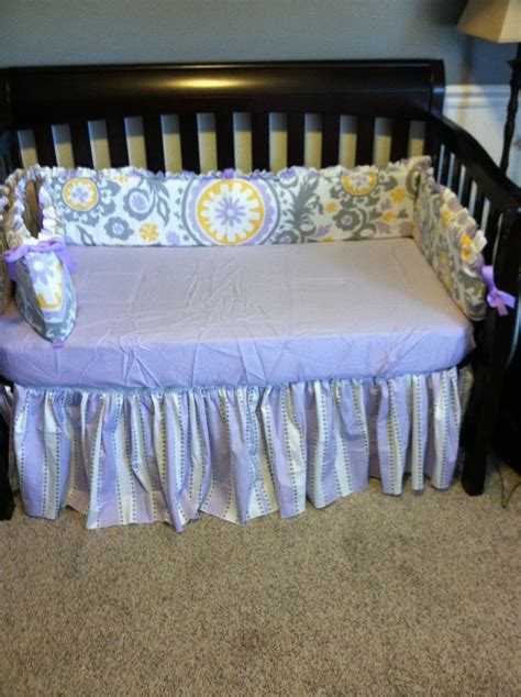 Purple Bedding For Cribs Custom Gray And Purple Crib Bedding For A Looks W Crib Baby S Room Color