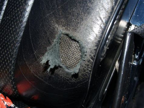 Fix Leather Tear by Low Budget Black Leather Tear In Seat Repair Mercedes