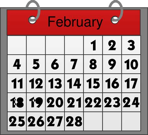 February Calendar Clipart february calendar clip at clker vector clip royalty free domain