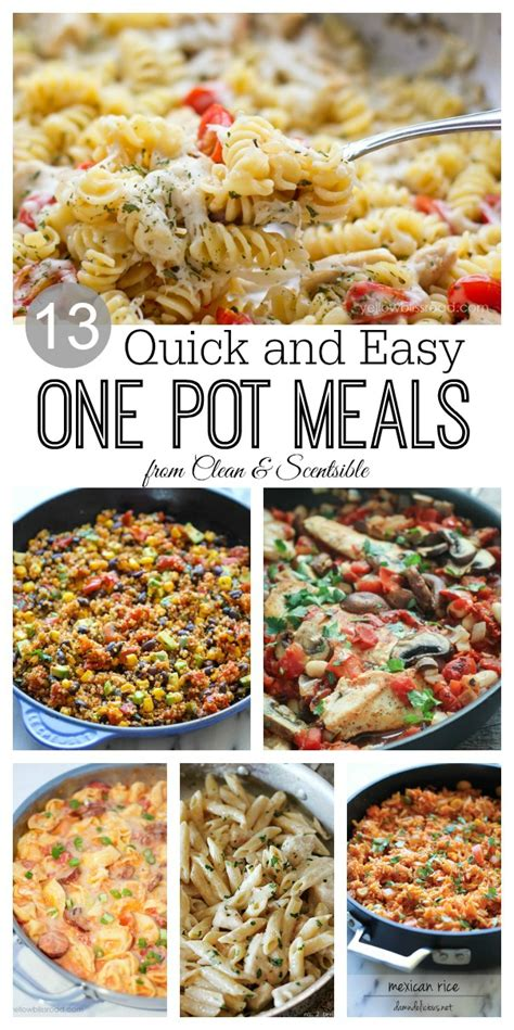 one pot dinner recipes one pot meals clean and scentsible