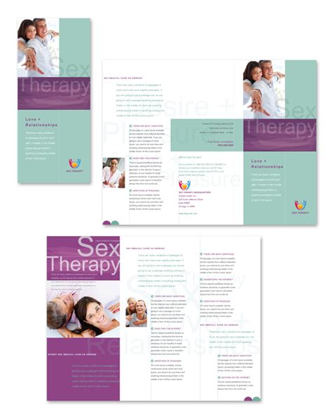 therapy brochure templates therapy tri fold brochure template