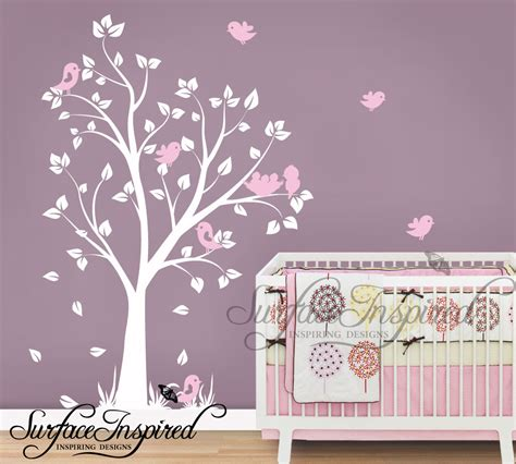 Tree Wall Stickers Nursery Uk Custom Sticker White Wall Decals For Nursery