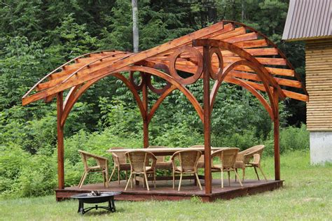 backyard arch garden arches and gazebos designshell