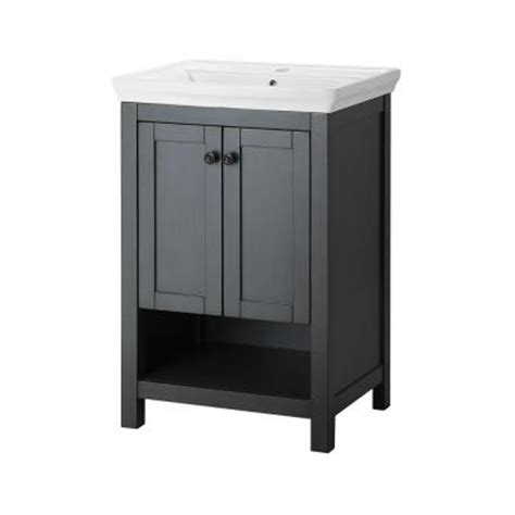 22 inch bathroom vanity with sink foremost hanley 22 in vanity and vitreous china sink in charcoal grey