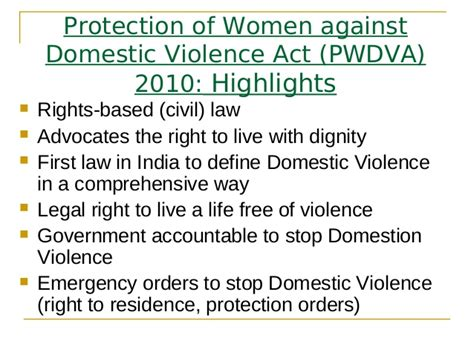 dv act section 12 crime against women