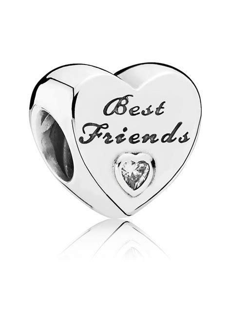 best friend pandora charm pandora pandora 791727cz charm best friends herz silber