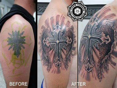 cross cover up tattoo pictures cover ups chris cosmos studio limassol cyprus