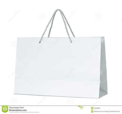 How To Make A Paper Shopping Bag - white paper shopping bag isolated on white stock image
