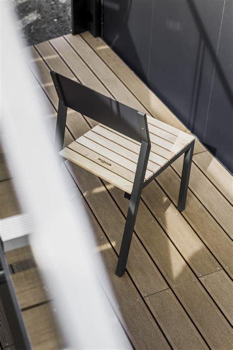chaise exterieure chaise ext 233 rieure de terrasse cora en m 233 tal aluminium de