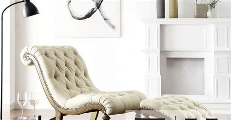 bellagio beige linen button tufted curved chaise lounge with ottoman relax in style with this graceful linen bellagio chaise