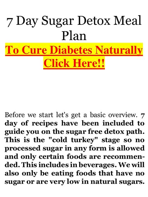 7 Day Sugar Free Detox by Diabetes Ebook No Sugar Diet Complete 7 Day Detox Plan 27