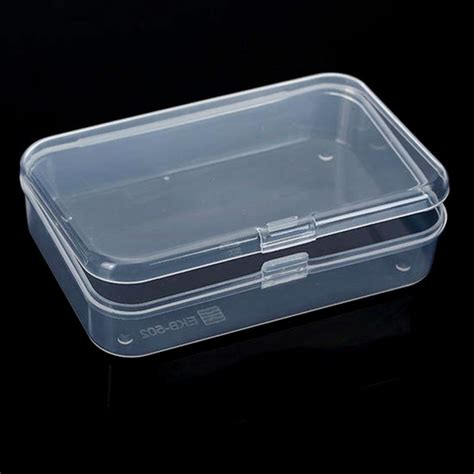 pcs mini plastic clear transparent storage box  lid