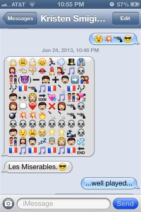 film emoji text les miserables funny emoji message text message battle