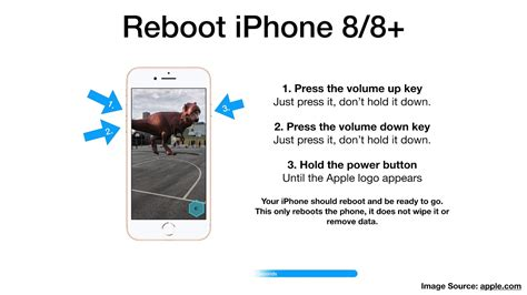 how to reboot or restart iphone 8 or 8 plus ios
