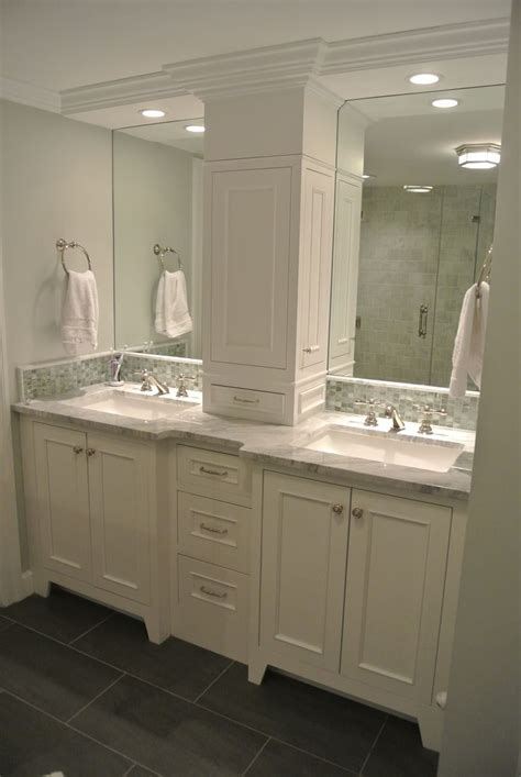 Two Vanities In Bathroom 1000 Images About Bathroom Remodel On Pinterest White Bathroom Vanities Bronze Bathroom And