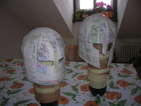 How To Make A Helmet Out Of Paper Mache - paper mache helmets and swords