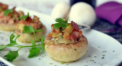 bacon stuffed mushrooms recipe spanish food recipes