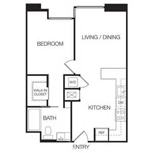 Floor Plan Of One Bedroom Flat 1 Bedroom Apartments Eastown Hollywood Apartments