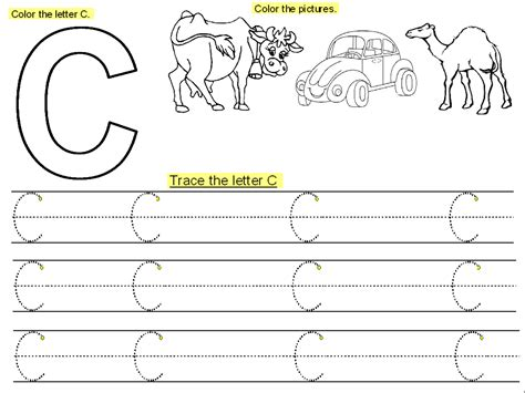 preschool printable worksheets letter c letter c worksheets for preschool trace the letter c