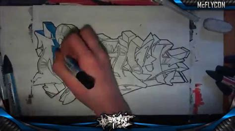 wildstyle graffiti speed drawing graff sur papier milou